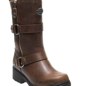 NWT Harley Davidson Brown Leather Motorcycle Boots